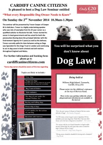 NEW DOG LAW POSTER CCC